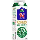 Mellanmjölk Ekologisk Laktosfri 1l Arla