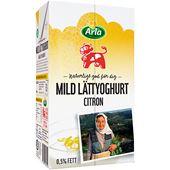 Mild Lättyoghurt Citron 0,5% 1L Arla