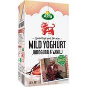 Mild Yoghurt Jordgubb/Vanilj Eko 1,8% 1000g Arla