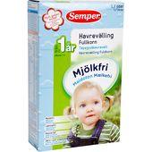 Mjölkfri Havrevälling Fullkorn 12M 250g Semper