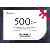 Presentkort 500kr MatHem