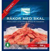 Frysta Räkor med Skal 70/90 500g Feldts
