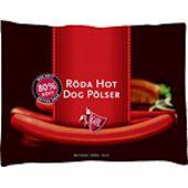 Röd Hot Dog pölser 16-p 1000 g Gol Pölser