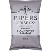 Salt and Black Pepper 150g Pipers Crisps