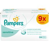 Sensitive Wipes 9x54-p Pampers Månadsbox