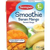 Smoothie Banan Mango 1År 2dl Semper