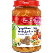 Spagetti med Köttbullar 12M 190g Semper
