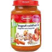 Stroganoff med grönsaker 12M 190g Semper