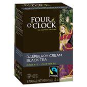 Svart Te Hallon Grädde Eko Fairtrade 16st Four O´Clock