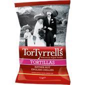 Tortillas Hot 150g TorTyrrells