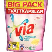 Tvättmedel Kapslar Color Sensitive Parfymfri 28-p Via
