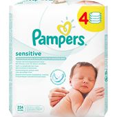 Tvättservetter Sensitive Wipes 4x56-p Pampers