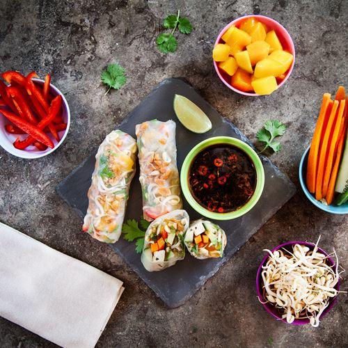 vietnamesiska färska vårrullar recept