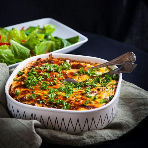 vegetarisk gratäng med sötpotatis