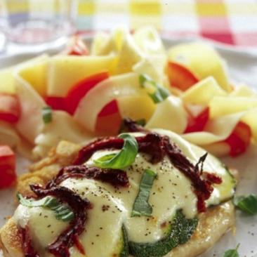 Mozzarellakyckling med zucchini