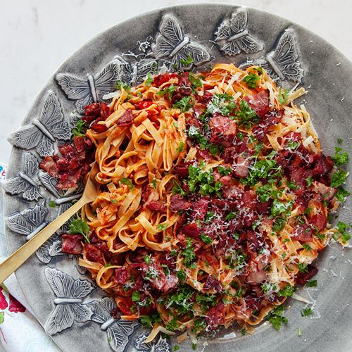 recept på pasta