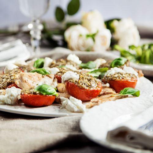 kyckling mozzarella tomat