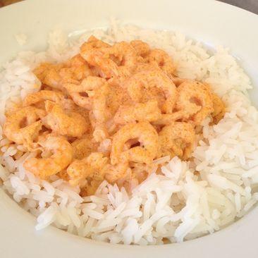 heta räkor curry vitlök