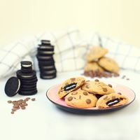 Chocolate chip cookies with Oreo surprise