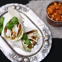 Chickpea currywrap