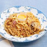 Spaghetti Carbonara med vitlök recept