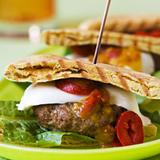 Fusion burger med mozzarella