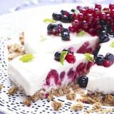 Halloncheesecake med krispig botten