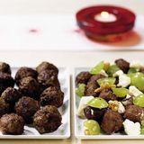 Köttbullar med fetaost och vindruvor