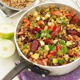 Matvete med curry och het korv