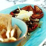 Stockholmschili med ugnsrostade tomater och dinkelchips