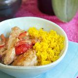 Chicken Tikka Masala med ris och Raita
