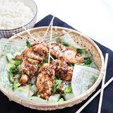 Teriyakispett på kyckling med wokad kinakål